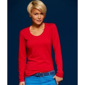 Damen Stretch T-Shirt langarm
